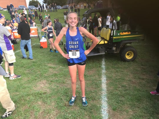 Cedar Crest cross country standout Gwyneth Young