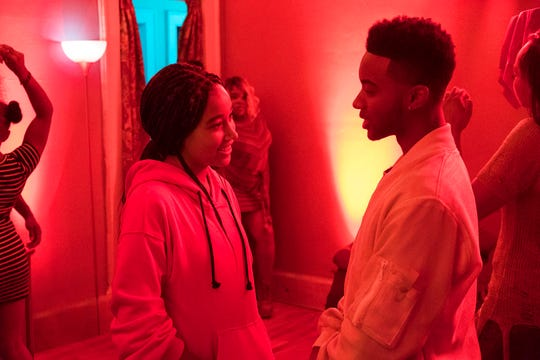 "Amandla Stenberg and Algee Smith star in ""The Hate U Give."" The movie opens Oct. 18 at Regal West Manchester Stadium 13 and Frank Theatres Queensgate Stadium 13."