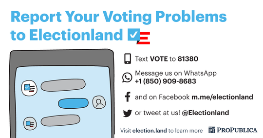 ProPublica/Electionland Directions.