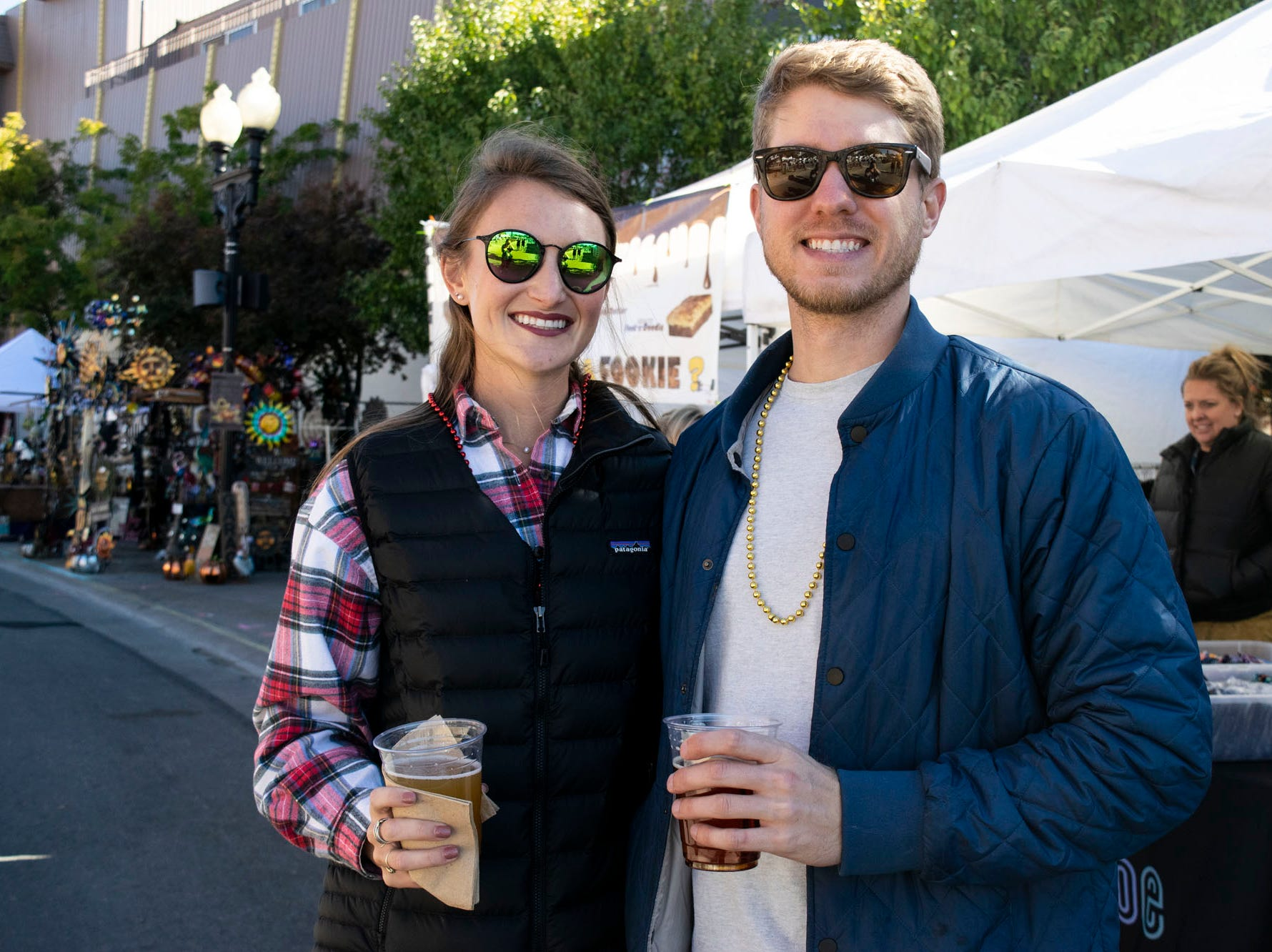 Mallory Cushner and Chris Daigle attend the Nugget's Southern Fare on the Square on Sunday, Oct. 14, 2018. Sparks, Nev.