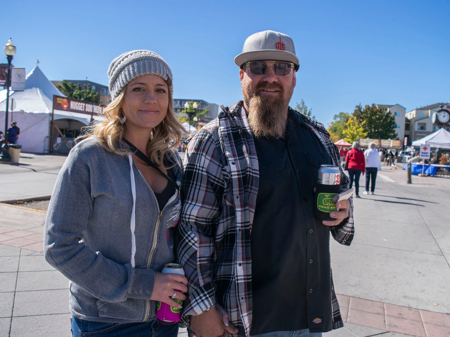 Ashley and Tyeson Muhlenberg attend the Nugget's Southern Fare on the Square on Sunday, Oct. 14, 2018. Sparks, Nev.