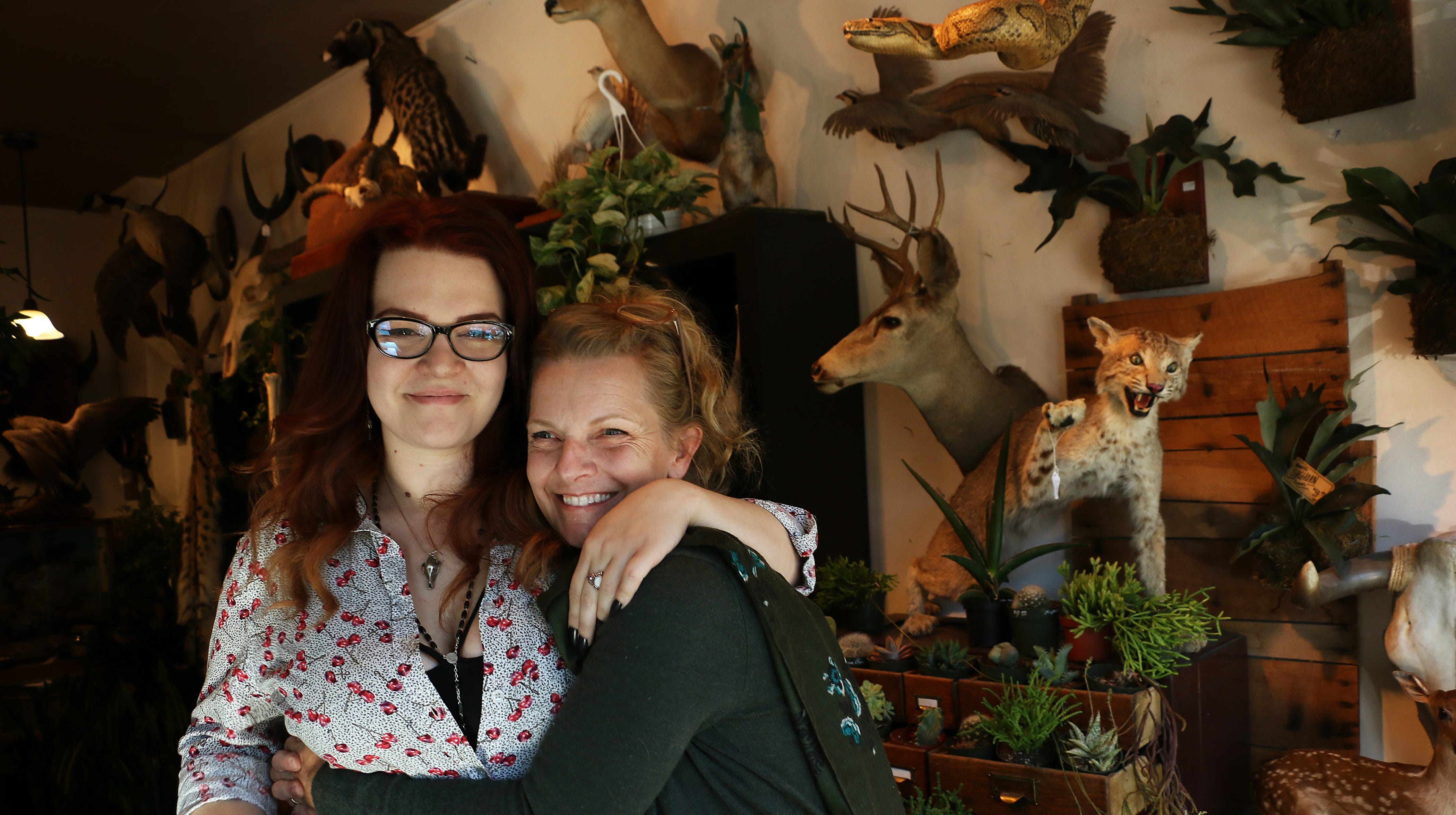 Owners Emily Felch, left, and her mom Marcy pose for a portrait in their store Natural Selection in Reno on Oct. 12, 2018.