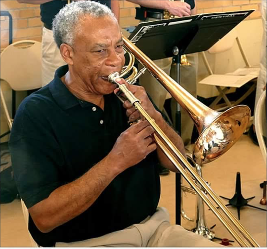 Ron Bowks, a trombonist, began his musical career in fourth grade.