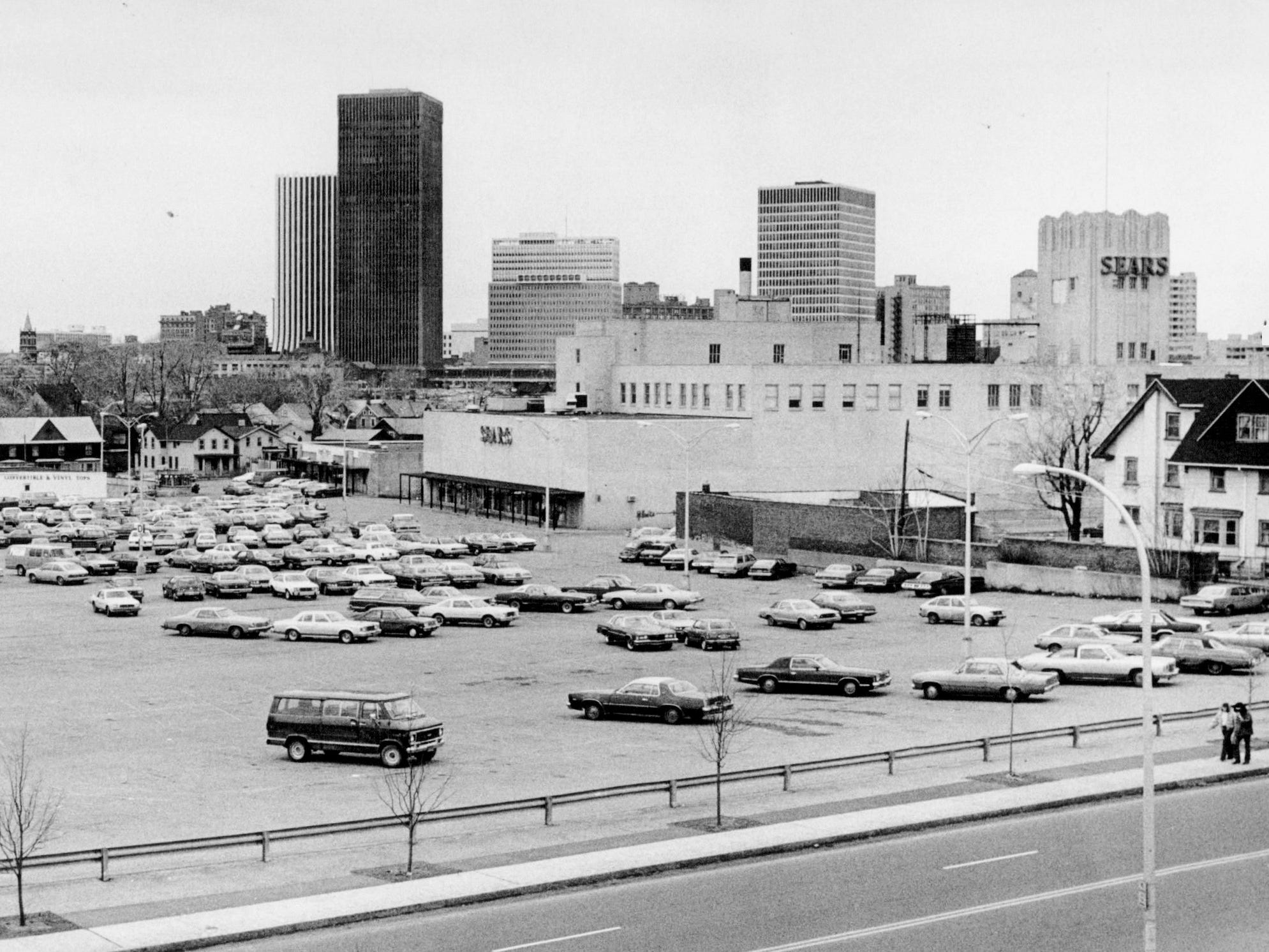 This 1981 photo shows the Sears building when it was located on Monroe Avenue in Rochester.
