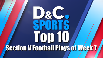 Check out the Democrat and Chronicle's Section V Football Top 10 plays for the final week of the 2018 regular season.