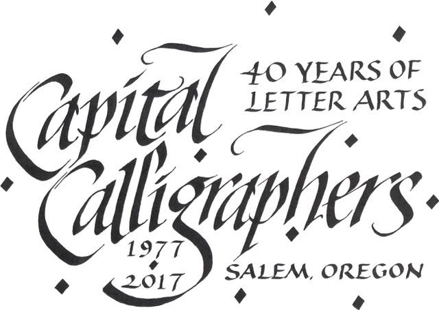 The 36th Annual All Oregon Calligrapher's Conference will be on Oct. 27.