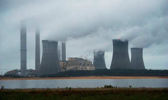 The coal-fired Plant Scherer in operation in Juliette, Ga.