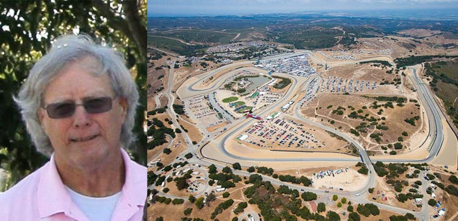 Edward Richard Reins died while working as a corner worker at Laguna Seca Sunday.