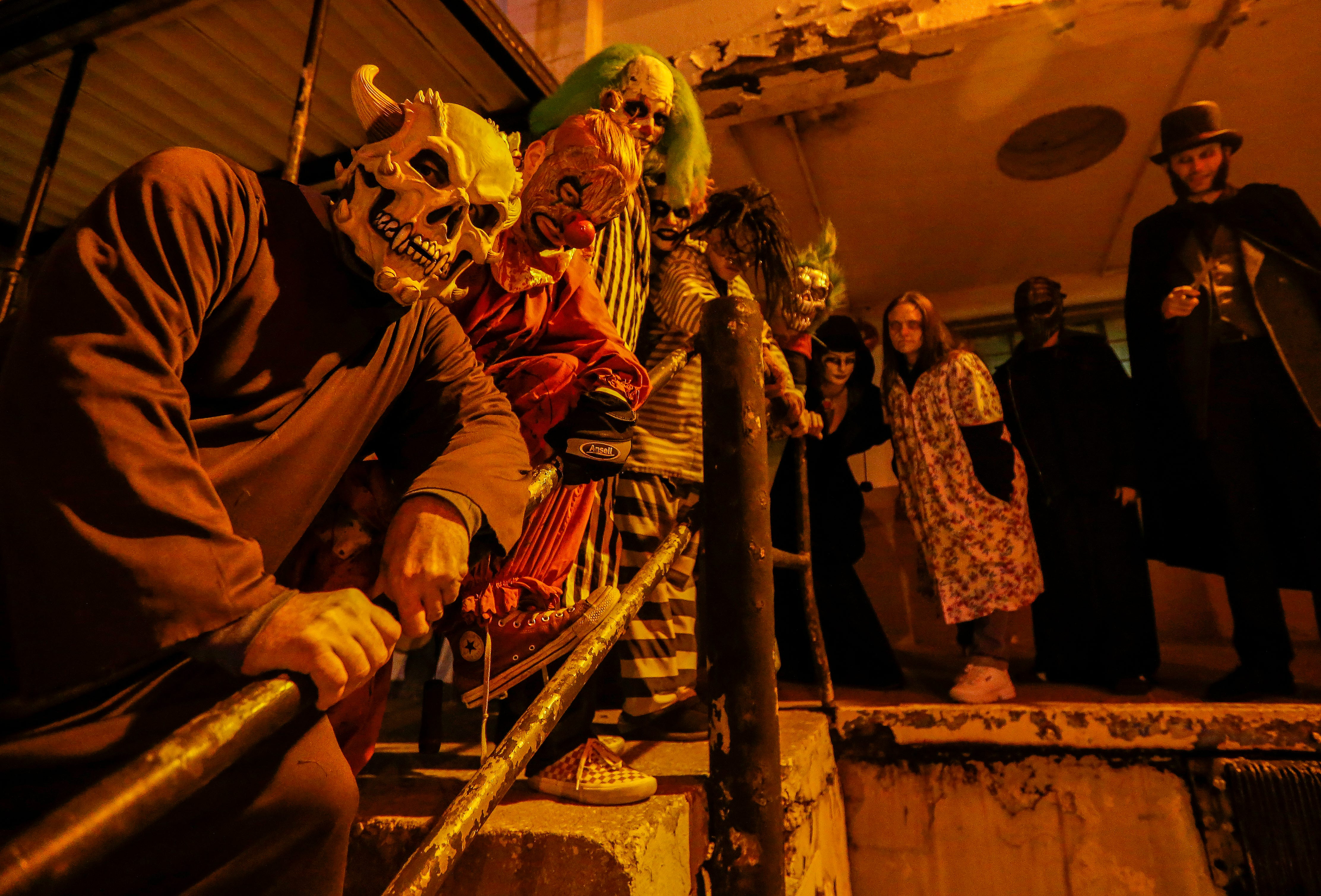 A host of scary characters wait to scare Springfield residents at Dungeons of Doom which is located at 701 W. Wall St. Dungeons of Dooms is owned by Sterling Mathis, who also owns Hotel of Terror.