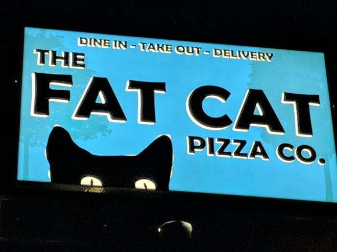 A sign for The Fat Cat Pizza Co. in Strafford is shown in this undated photo. The restaurant opened on Oct. 15, 2018.