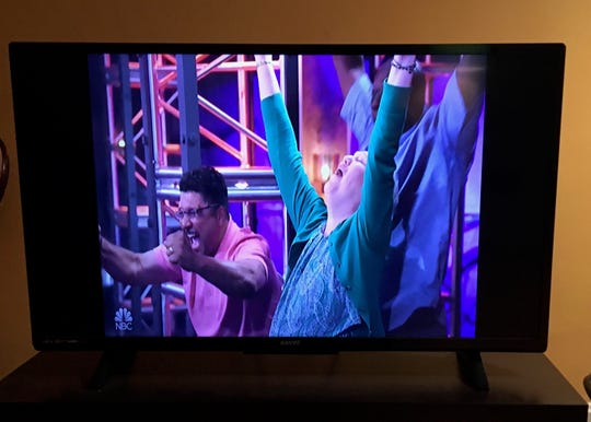 """Parents Wendell and Alex Johnson at seeing Jennifer Hudson turn her chair around on """"The Voice"""" when their son, Fishersville singer Matt Johnson, the last to audition on season 15 of the show makes it on Team JHUD on Monday night's show Oct. 15, 2018."""