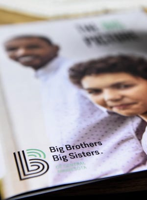 Big Brothers Big Sisters of Central Minnesota is launching a new branding logo and strategy, shown Wednesday, Oct. 10, in St. Cloud.