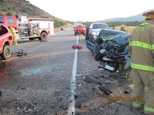 A 24-year-old Enterprise woman was killed Tuesday in an accident on state Route 18 north of St. George.