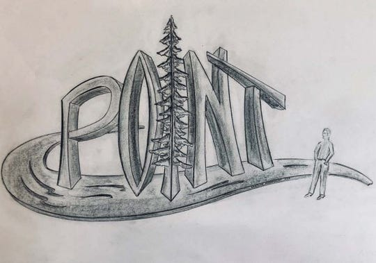 "Stevens Point City Council approved on Monday spending $105,000 on sculpture commissions from local blacksmith Boleslaw Kochanowski that will be placed at the city's new northside roundabout in 2019. The piece to welcome drivers traveling south on U.S. 51 would include giant letters spelling out ""Point"" while alluding to the city's reputation for clean water and pine trees."