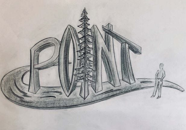 """Stevens Point City Council approved on Monday spending $105,000 on sculpture commissions from local blacksmith Boleslaw Kochanowski that will be placed at the city's new northside roundabout in 2019. The piece to welcome drivers traveling south on U.S. 51 would include giant letters spelling out """"Point"""" while alluding to the city's reputation for clean water and pine trees."""