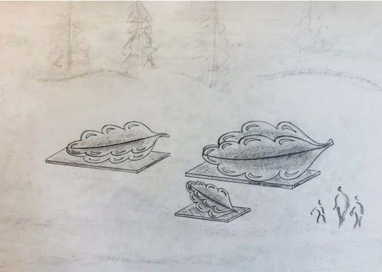 Stevens Point City Council approved on Monday spending $105,000 on sculpture commissions from local blacksmith Boleslaw Kochanowski that will be placed at the city's new northside roundabout in 2019. The piece to greet drivers traveling north out of the city and on to U.S. 51 would feature three large pine cones inspired by traditional Polish paper crafts