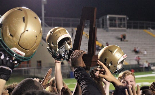 The Lincoln Trojans played host to the Leon Lions at Gene Cox Stadium on Monday, Oct. 15, 2018. The Trojans won 56-21 to capture a District 2-7A title.