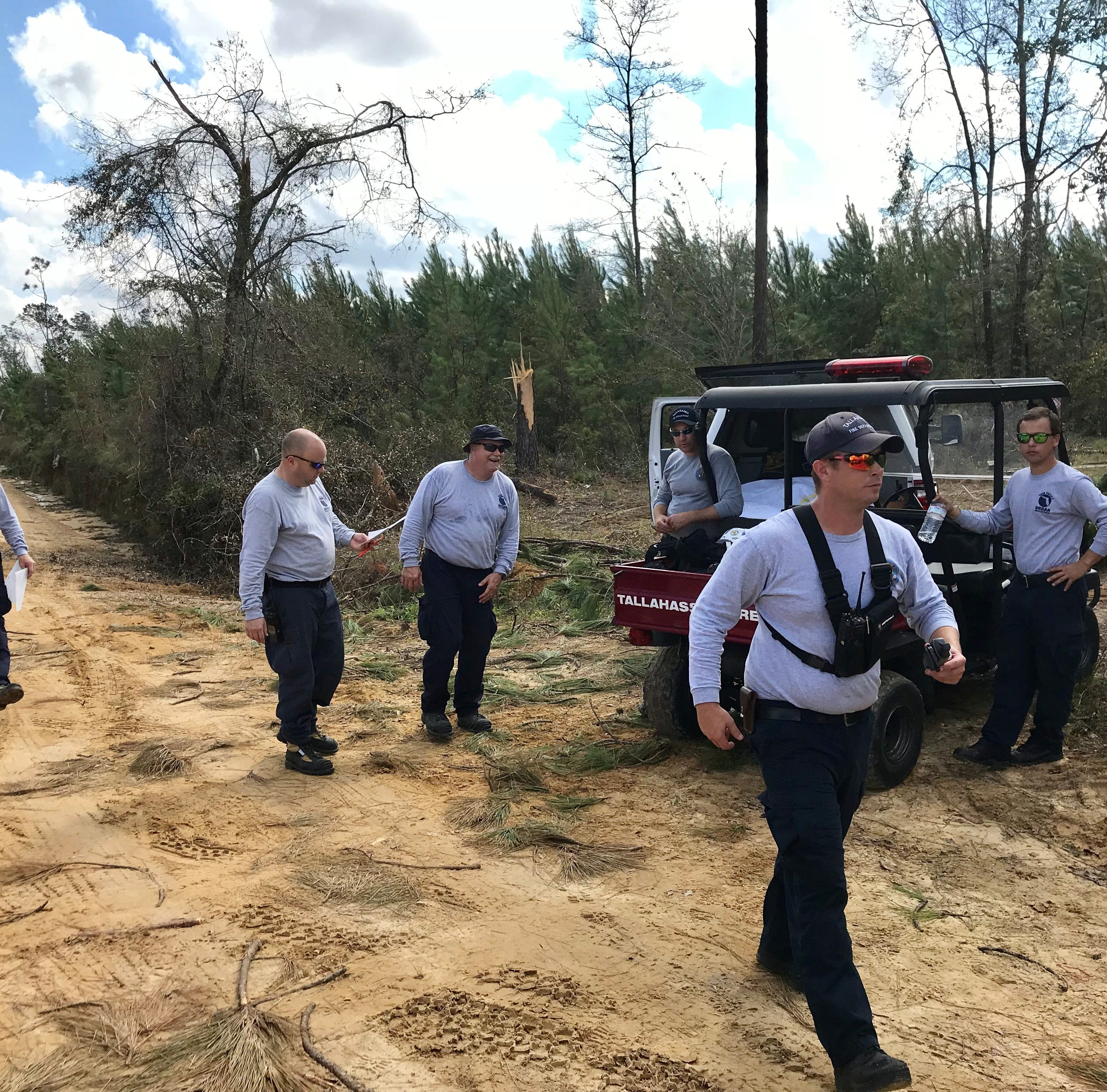 Tallahassee firefighters searching for Hurricane Michael victims in Jackson County