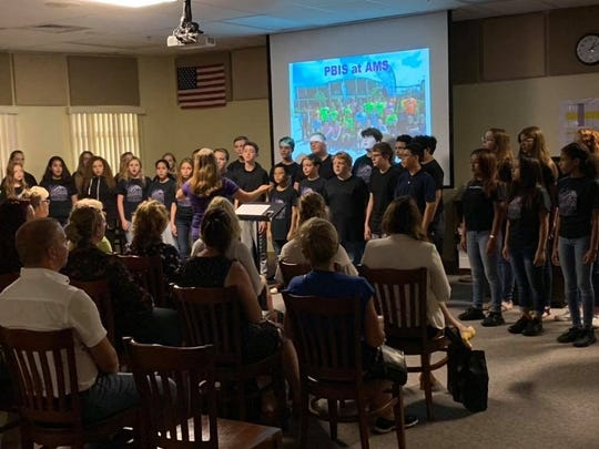 The Dr. David L. Anderson Middle School Choir performed for educators from the Netherlands on Oct. 9.