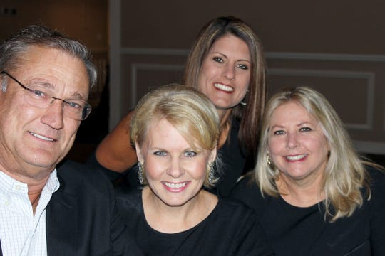 Chris Pensch, left, Marni Parent Howder, Michelle Griffin and Rene Cox at Exchange Club of Indian River Foundation's fourth annual Black & White Masquerade Ball at the Vero Beach Country Club.