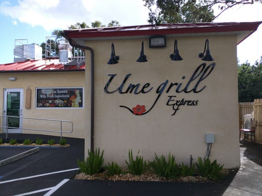 Ume Grill Express is at 1956 43rd Ave. in Vero Beach.