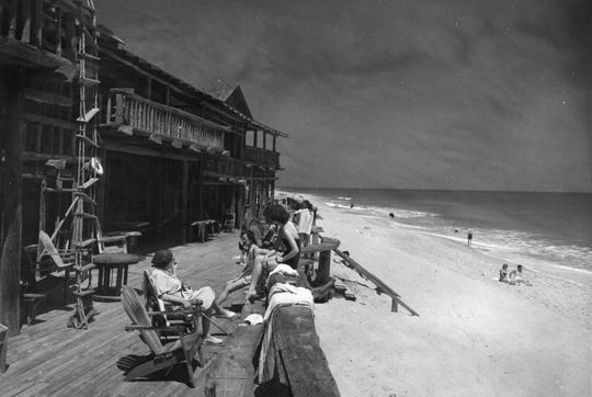 The Driftwood Inn was built in 1935, starting with the timbers of a dairy barn that had been destroyed in a storm. Ralph Sexton said his father had intended it as a family beach house, but was soon besieged by requests for rooms.