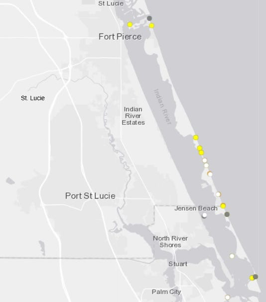 Indian River Florida Map.Where S The Red Tide Today Fwc S Red Tide Map Link