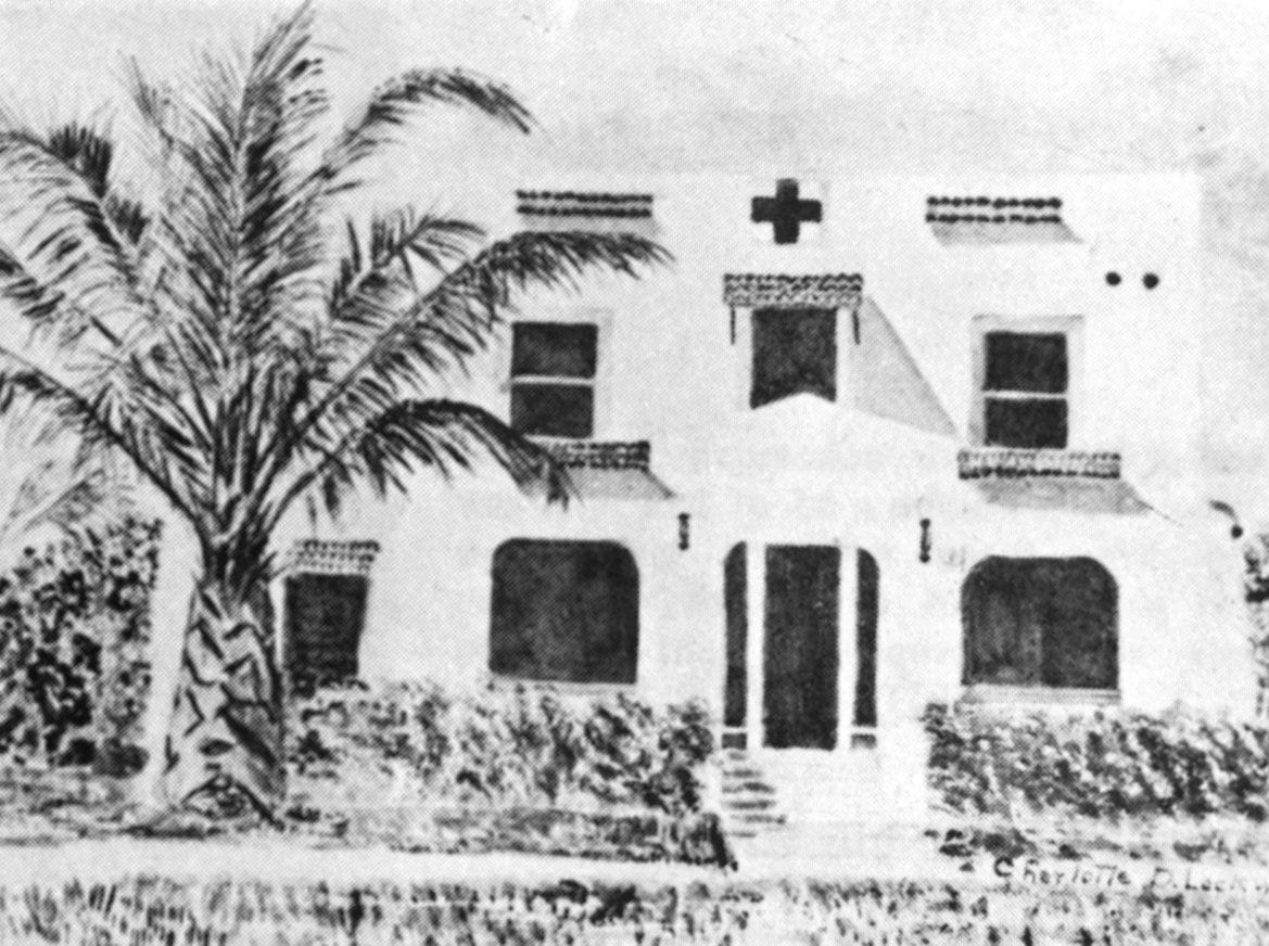 """Florida's Historic Indian River County,"" by Charlotte Lockwood, 1976. Vero Beach's first hospital. The first hospital was opened by Mrs. Garnett L. Radin in 1932 in a hotel which had been built in 1925. When the population outgrew this facility and the Indian River Hospital Association was chartered in 1940, Mrs. Radin was retained as superintendent until she entered the war as a Navy nurse."