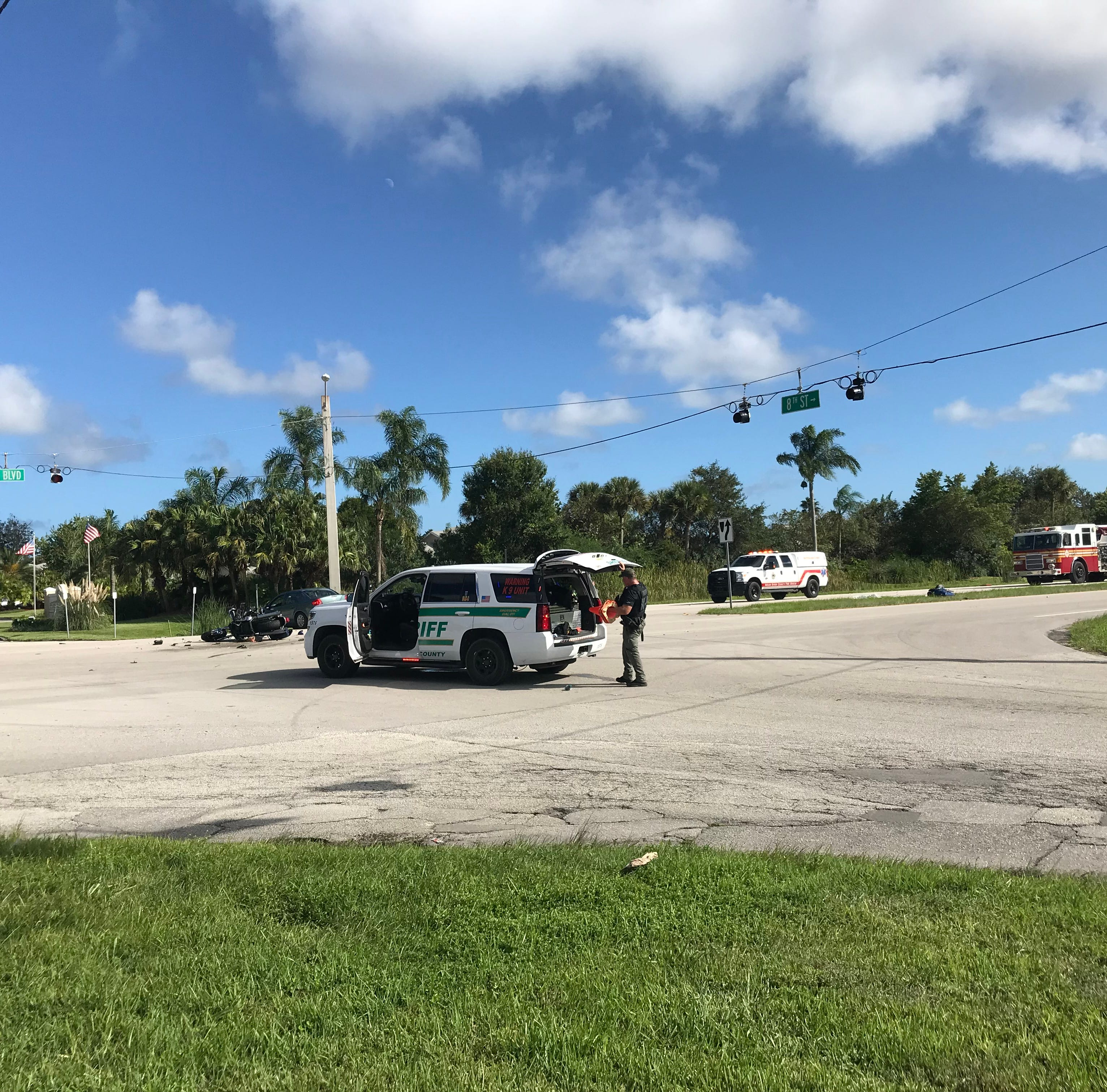 Motorcyclist killed after crash at Indian River Boulevard and Eighth Street; traffic blocked