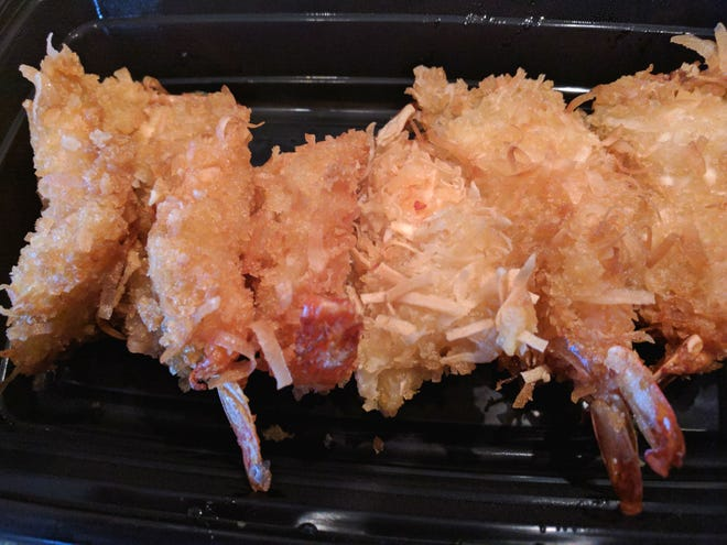 Ume Grill Express's sweet and crunchy coconut shrimp.
