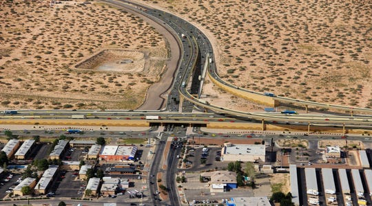 This is how the proposed Montana Avenue freeway is expected to look at the proposed Yarbrough/Global Reach interchange when the second or third phase of the estimated $370 million project is completed.