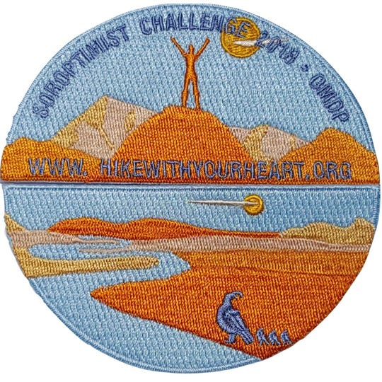 The Quail Patch is one of several patches Soroptimist Challenge  participants can earn.
