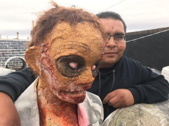 Mario Alvarado, whose family owns Desert Warriors Paintball, and his scary friends are ready to greet guests at the Haunted Houses of Terror.