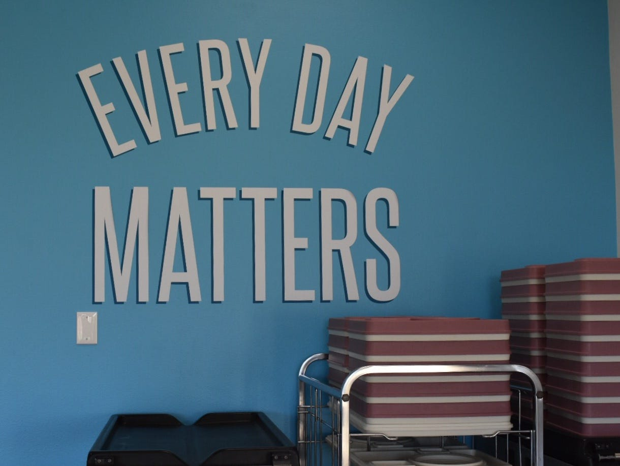 """""""Every day matters"""" has been adopted as a slogan by staff at Vista del Mar Hospital. The hospital was closed after the Thomas Fire."""