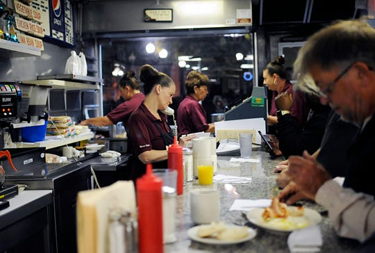 Fans of the iconic Jim's Lunch in Millville filled the restaurant on its opening day of the season on Tuesday, October 16, 2018.