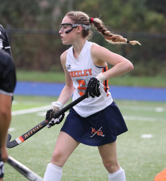 Horace Greeley's Izzy Klein in action Oct. 15 against Hackley