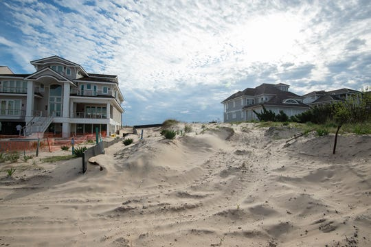 View of the land lot at 2 East Lake Drive in Rehoboth Beach that developer, Louis Capano III, wants to build on.