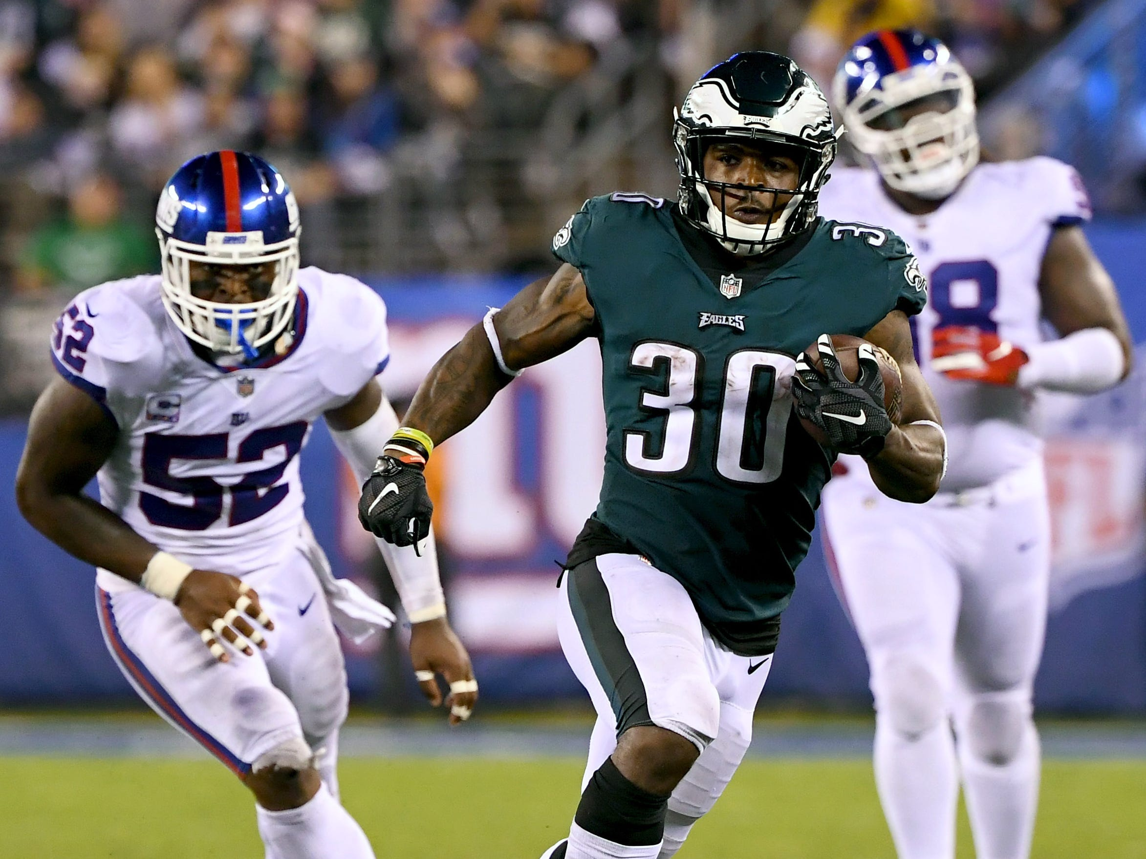 10. Eagles (19): Doesn't Corey Clement, coming off 10 days to rest his healing quad, deserve chance to be lead back? Don't forget what he did in Super Bowl.