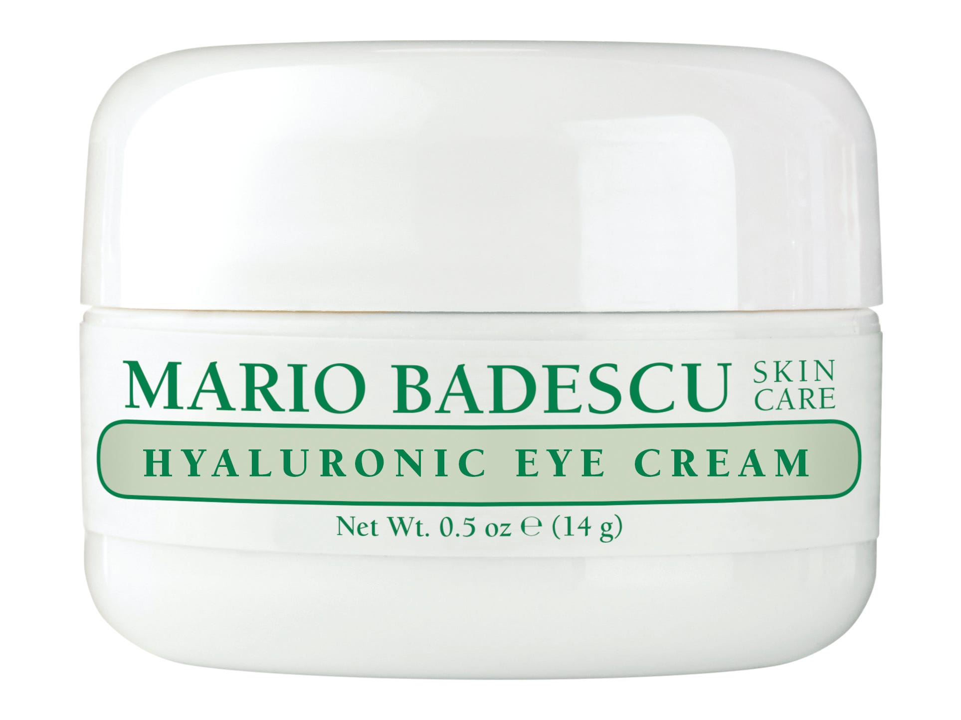 Mario Badescu's Hyaluronic Eye Cream is gentle enough for all skin types while still powerful enough to hydrate and smooth under-eyes. The non-greasy formula is lightweight and will leave you feeling bright and fresh, $18 at ulta.com.