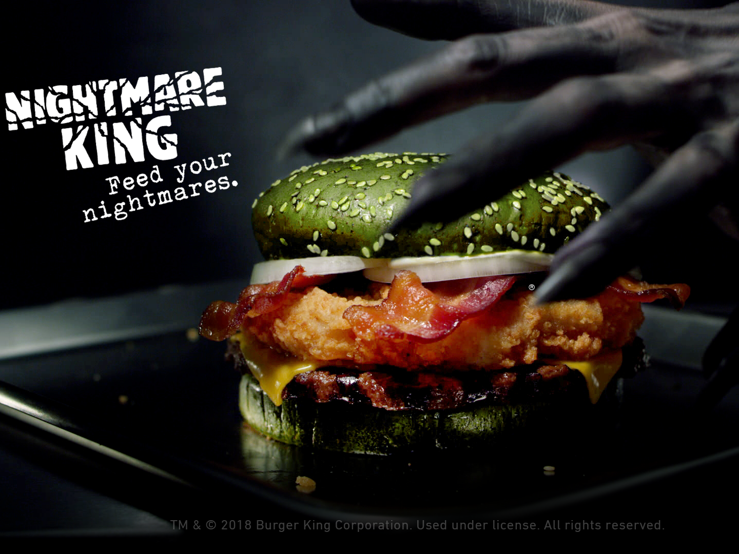 Burger King says its new Halloween creation 'Nightmare King' can induce nightmares