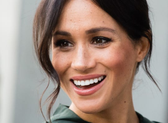 Duchess Meghan of Sussex visits Chichester during an official visit to Sussex on Oct. 3, 2018.