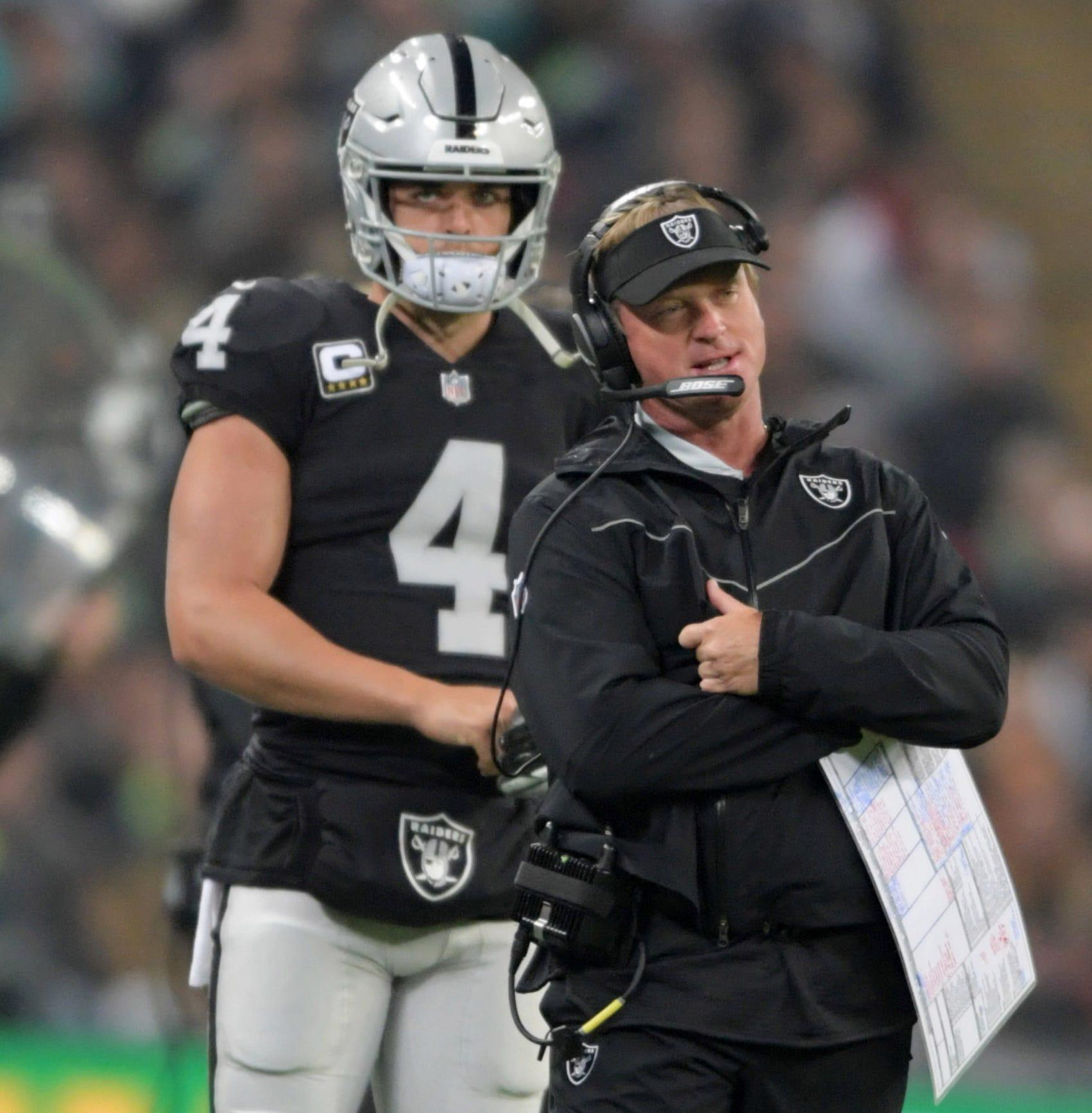 """31. Raiders (30): Who's next to go? Amari Cooper? Gareon Conley? Reggie McKenzie? At least Jon Gruden's """"team"""" is still Bay Area's best ... maybe."""