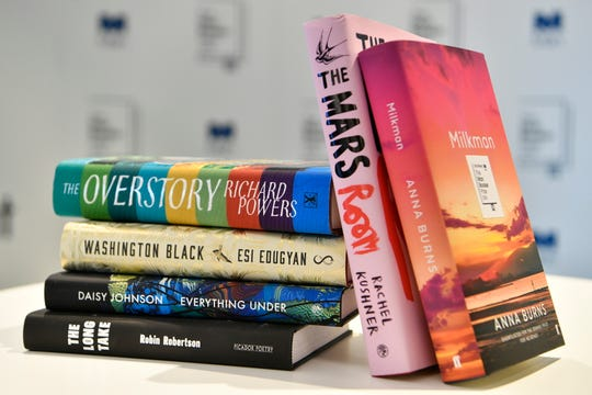 The six books that were shortlisted for the Man Booker Prize for fiction in 2018.