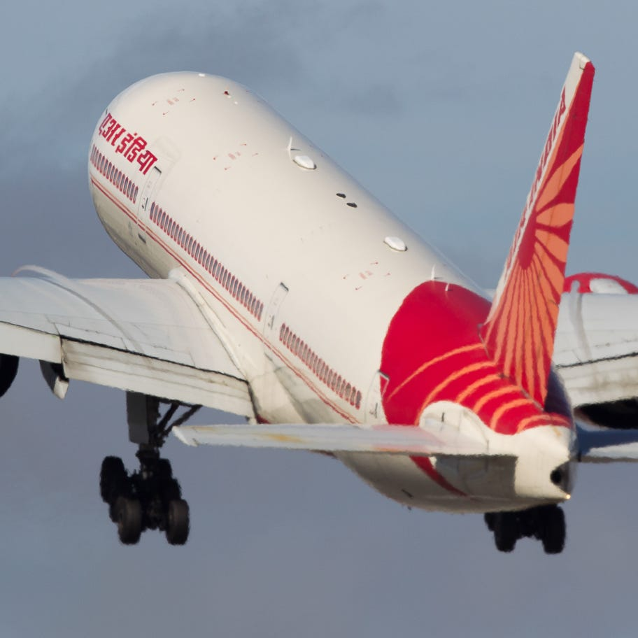 This file photo from Oct. 23, 2016, shows an Air India Boeing 777 lifting off from San Francisco International Airport.
