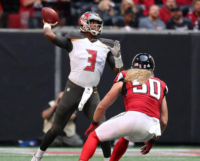 Buccaneers quarterback Jameis Winston threw for 395 yards and four touchdowns against the Falcons in Week 6.