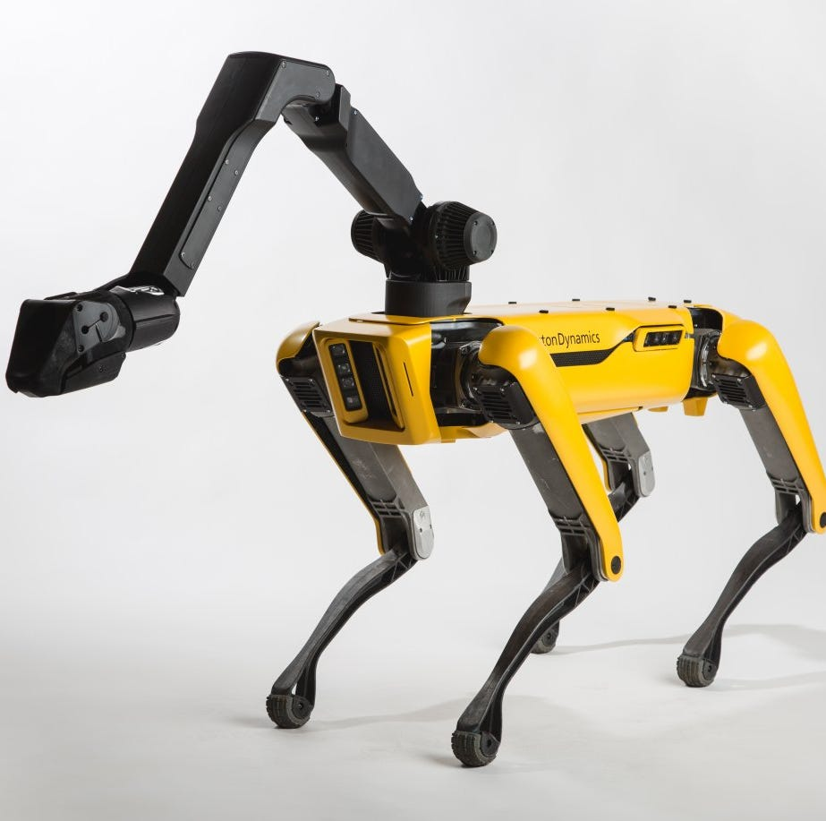 Boston Dynamics' SpotMini robot.