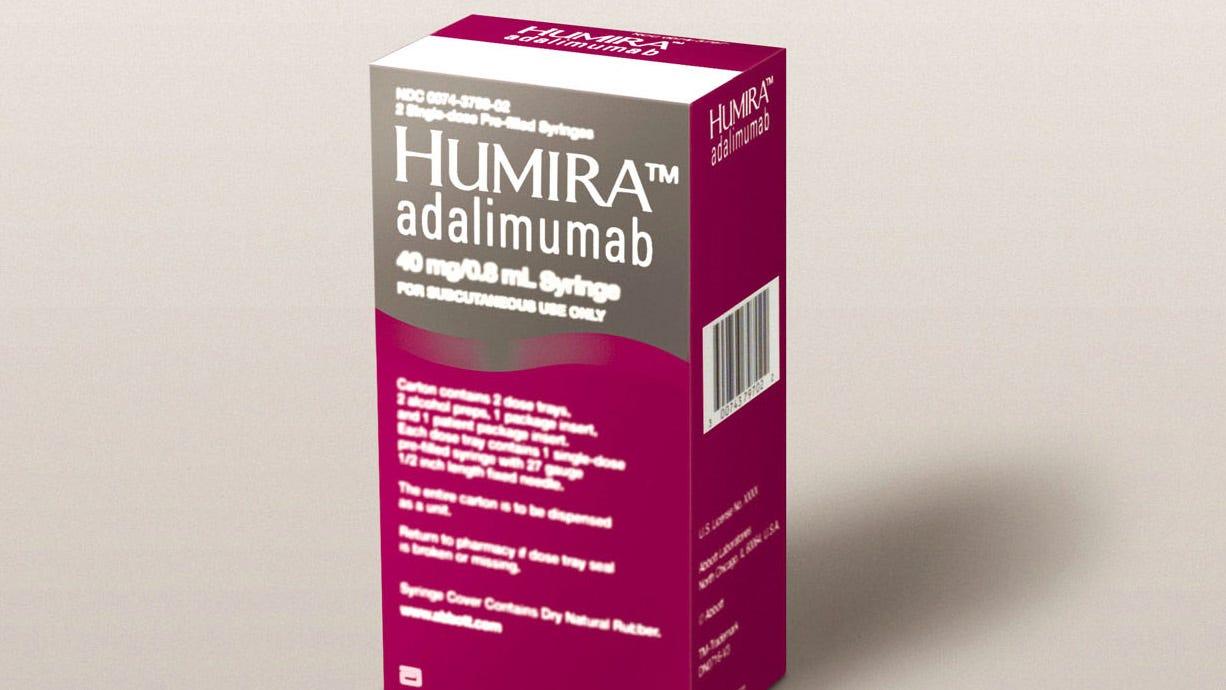 Humira treats rheumatoid arthritis, chronic plaque psoriasis and Crohn's disease.