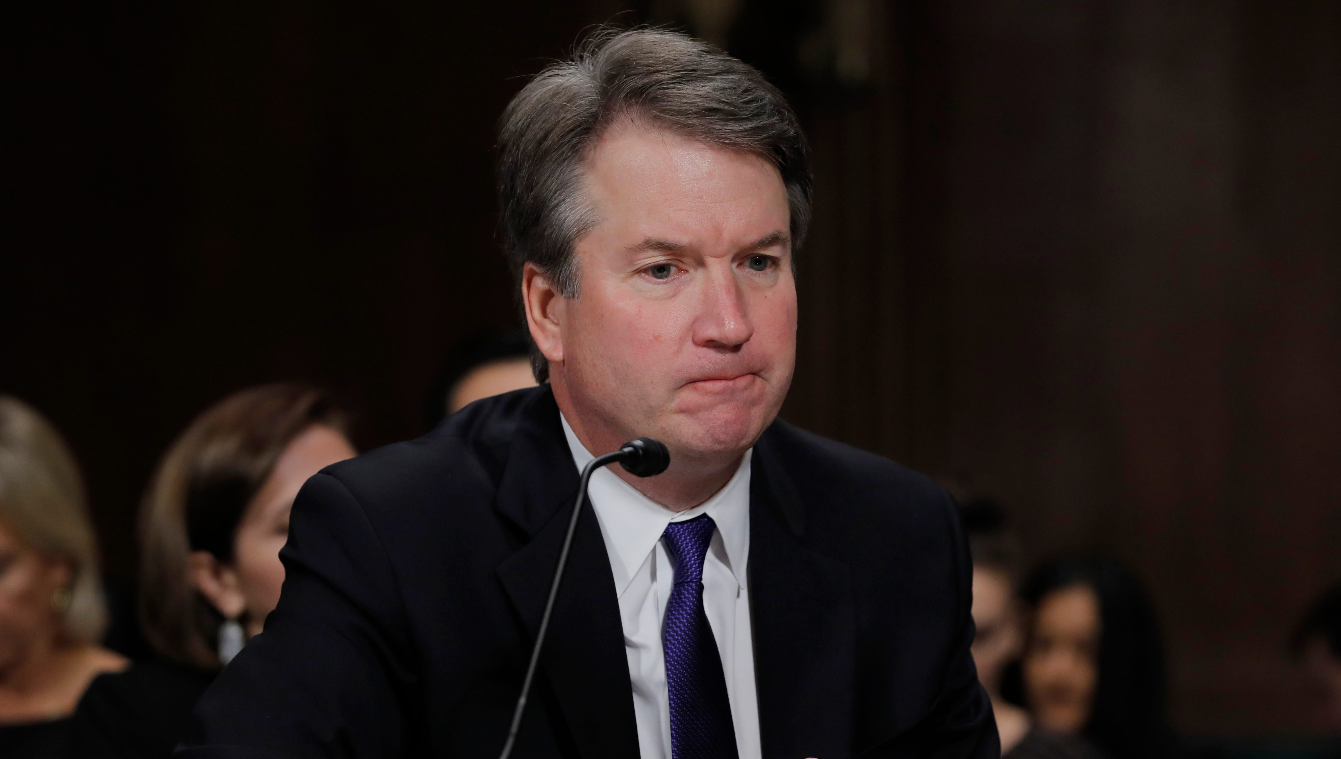 Brett Kavanaugh at his Supreme Court confirmation hearing on Sept. 27, 2018.