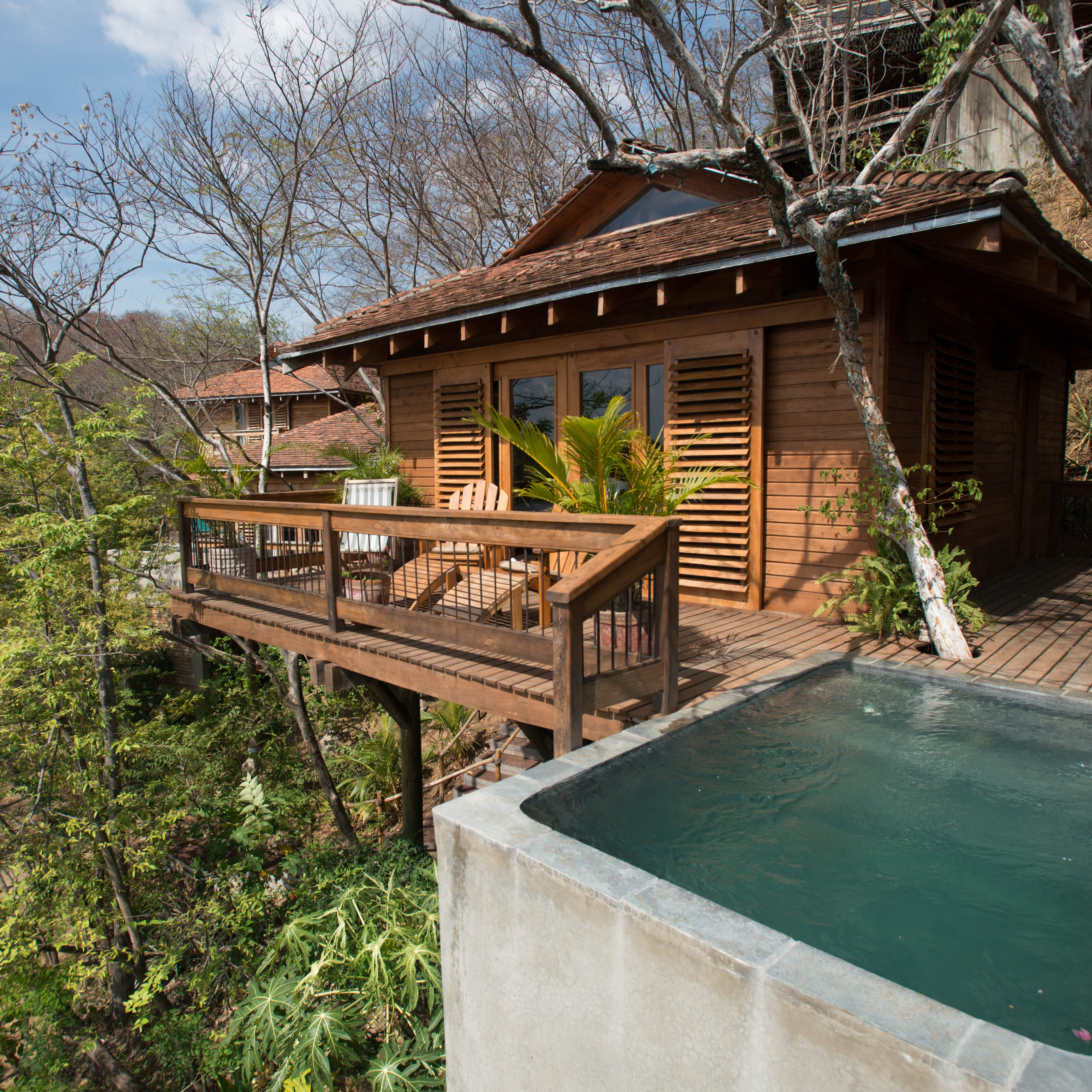 For those who want to reconnect with nature without really roughing it, Aqua Wellness Resort, a rustic-luxe retreat set into a hillside on Nicaragua's Pacific coast, is a solid pick.