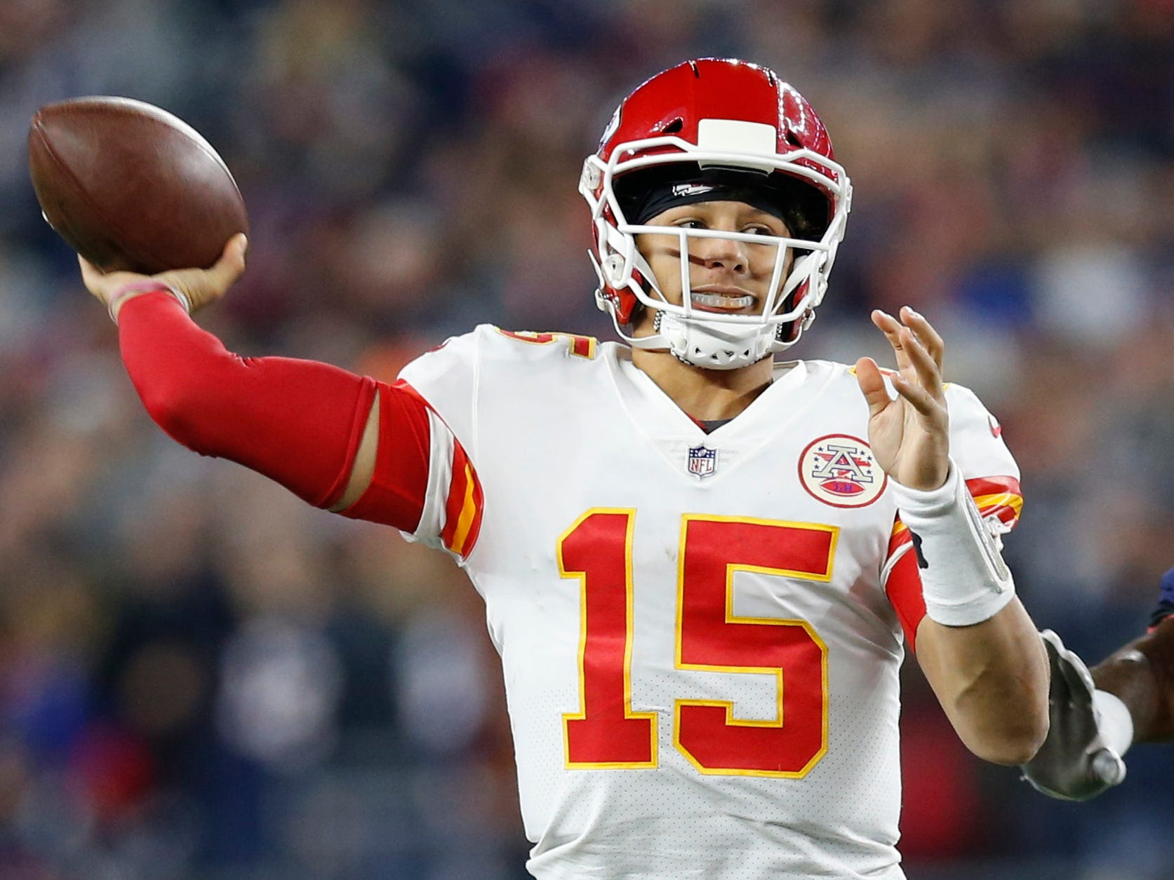 4. Chiefs (2): As long as Eric Berry, Justin Houston out, defense (it's allowed 500 yards three times) will continue to put Mahomes and Co. in tough spots.